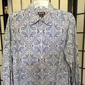 Michael Kors Men's paisley shirt, sz M